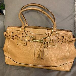 Coach Hampton Leather Tote Bag Purse